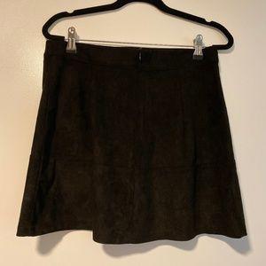 Lulus Black Suede Skirt